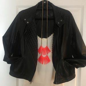 Faux Leather Jacket 🧥🎩